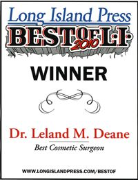 Best Cosmetic Surgeon 2010 award to Dr. Leland Deane by Long Island Press
